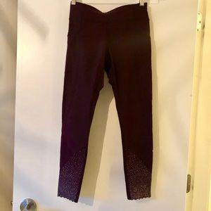 Plum Lululemon leggings, limited design edition